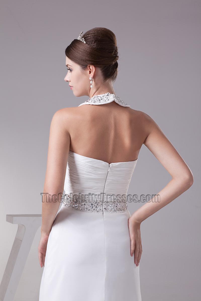 wedding dress a line chiffon a line halter beaded chiffon bridal gown wedding dress