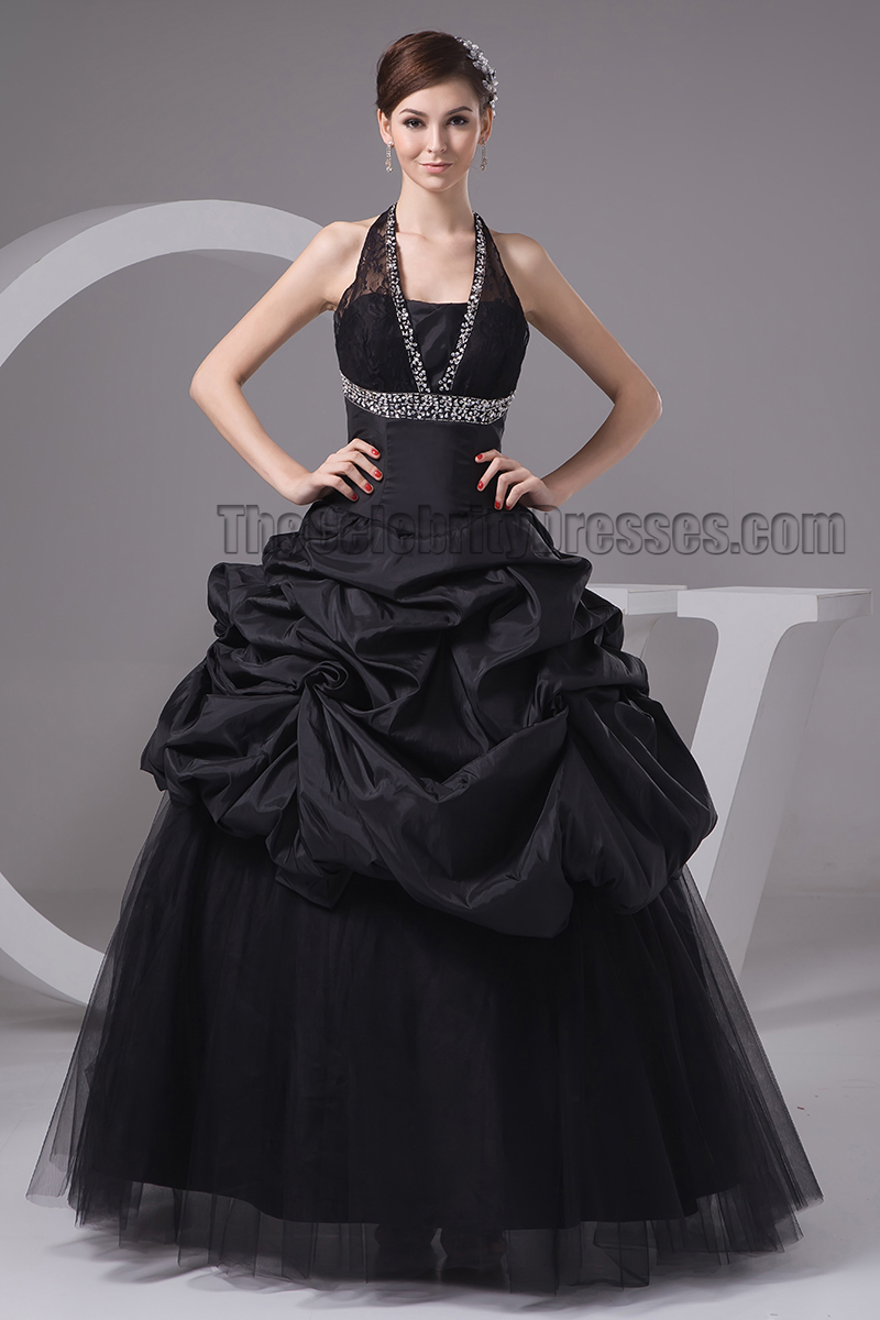 Black Halter Wedding Dresses