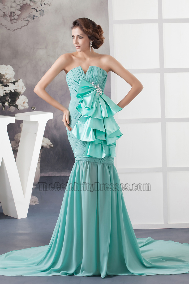 Celebrity Inspired Strapless Mermaid Formal Dress Prom Gown ...