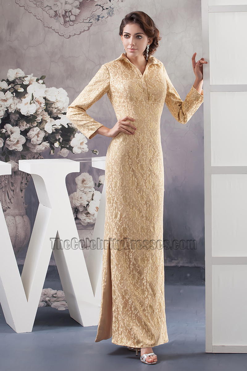 Evening Dresses with Lace Sleeves