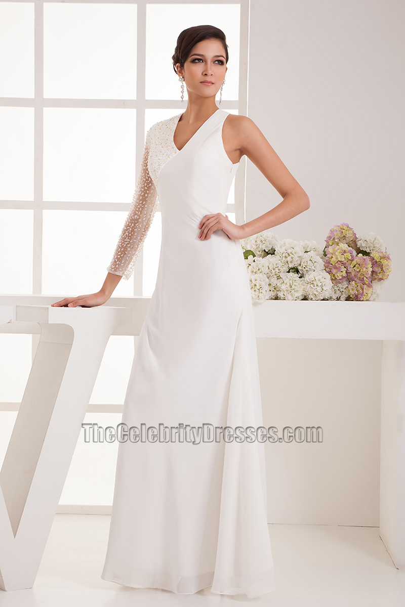 Superb Chic Floor Length One Sleeve Wedding Dress Bridal Gown   TheCelebrityDresses