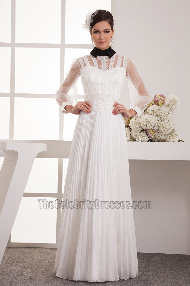 Chic Long Sleeve A-Line High Neck Prom Gown Evening Dress -  TheCelebrityDresses 57a0ce87f