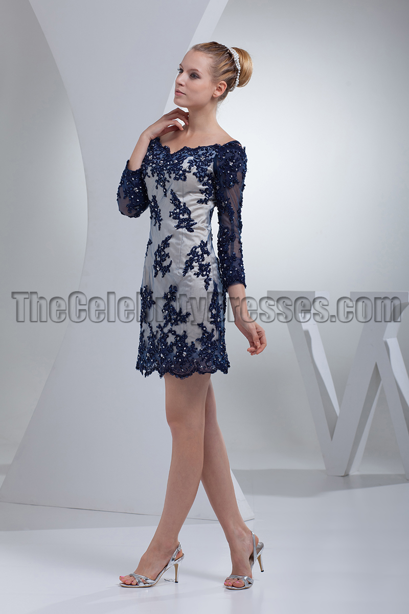 Chic Short / Mini Lace Long Sleeve Party Cocktail Dresses ...