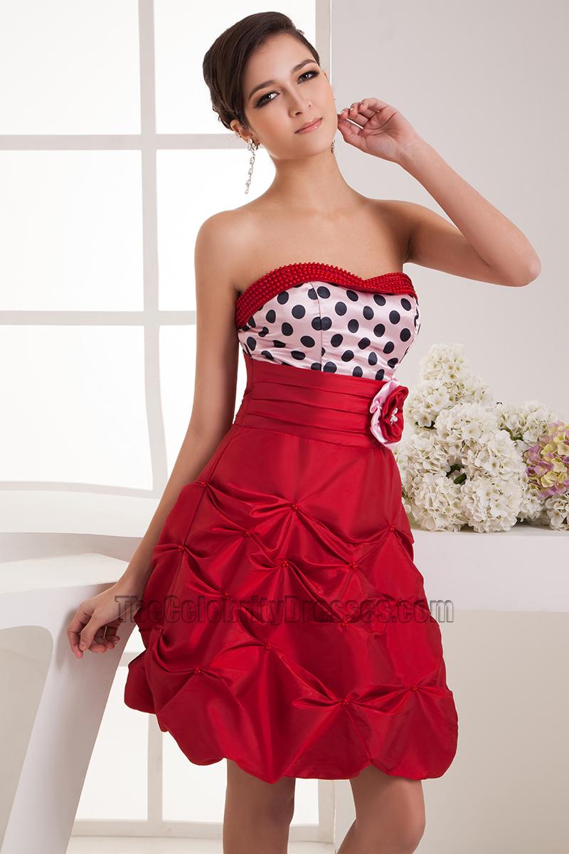 cute short strapless aline party graduation dresses