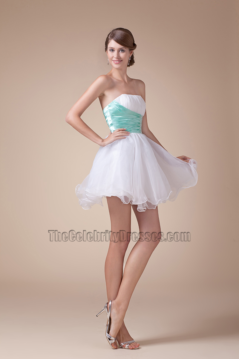 Cute Strapless Short Mini A-Line Party Sweet 16 Dresses - TheCelebrityDresses