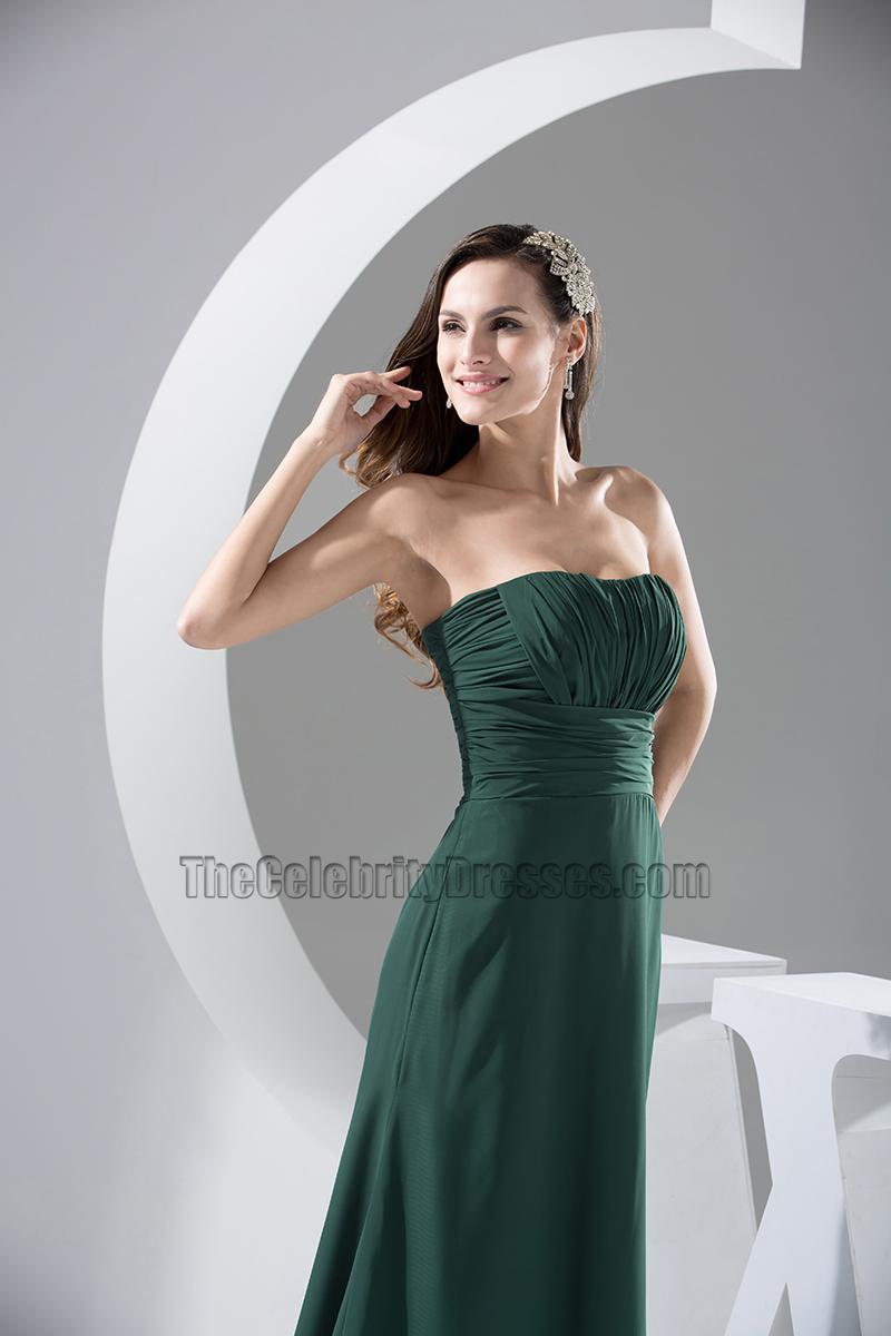 Dark Green Chiffon Dress