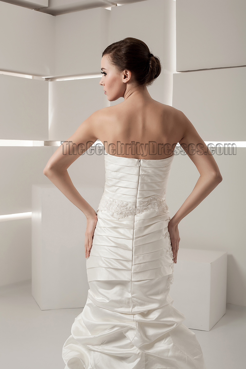 Discount strapless sweetheart taffeta wedding dresses for Strapless taffeta wedding dress