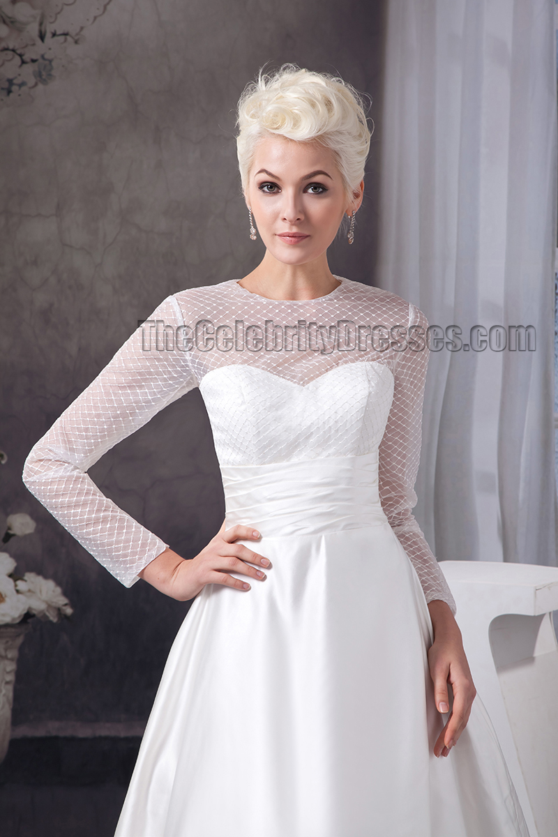 Elegant a line long sleeve chapel train wedding dresses elegant a line long sleeve chapel train wedding dresses thecelebritydresses ombrellifo Image collections