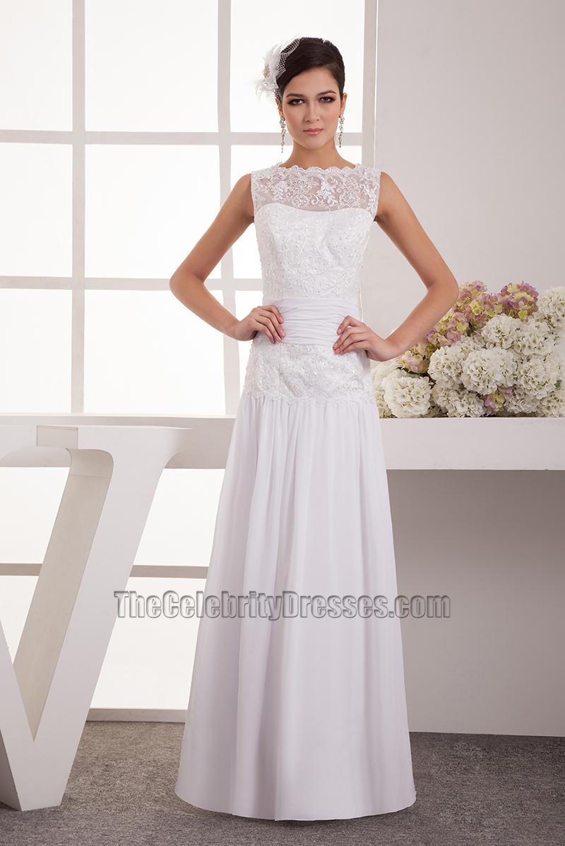 White dress chiffon - White Lace Chiffon Dress