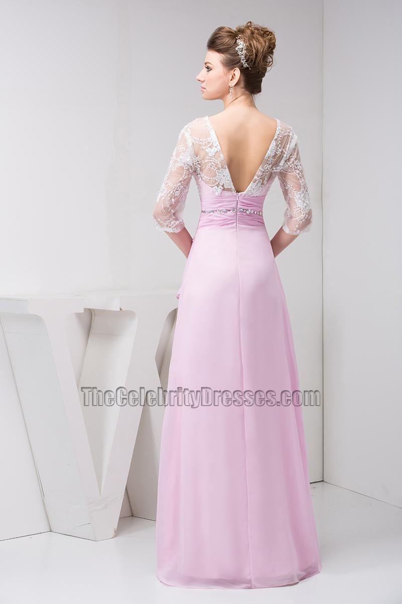 Elegant Lace Chiffon Formal Dress Prom Evening Gown ...