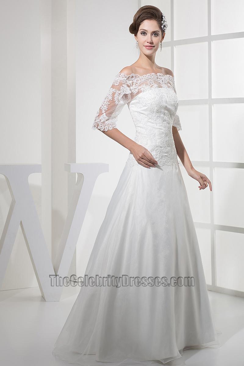 Elegant lace off the shoulder a line taffeta wedding dress elegant lace off the shoulder a line taffeta wedding dress thecelebritydresses junglespirit Choice Image
