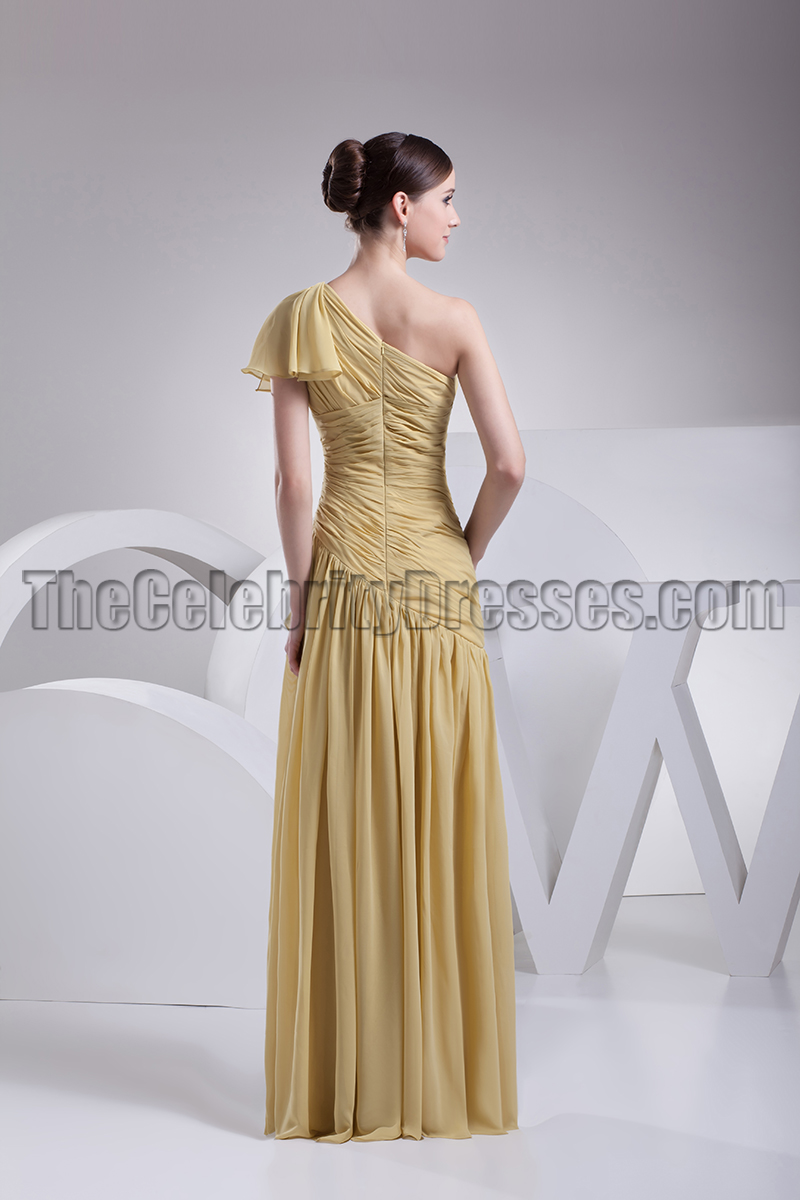 Gold one shoulder chiffon prom gown bridesmaid dresses gold one shoulder chiffon prom gown bridesmaid dresses thecelebritydresses ombrellifo Choice Image