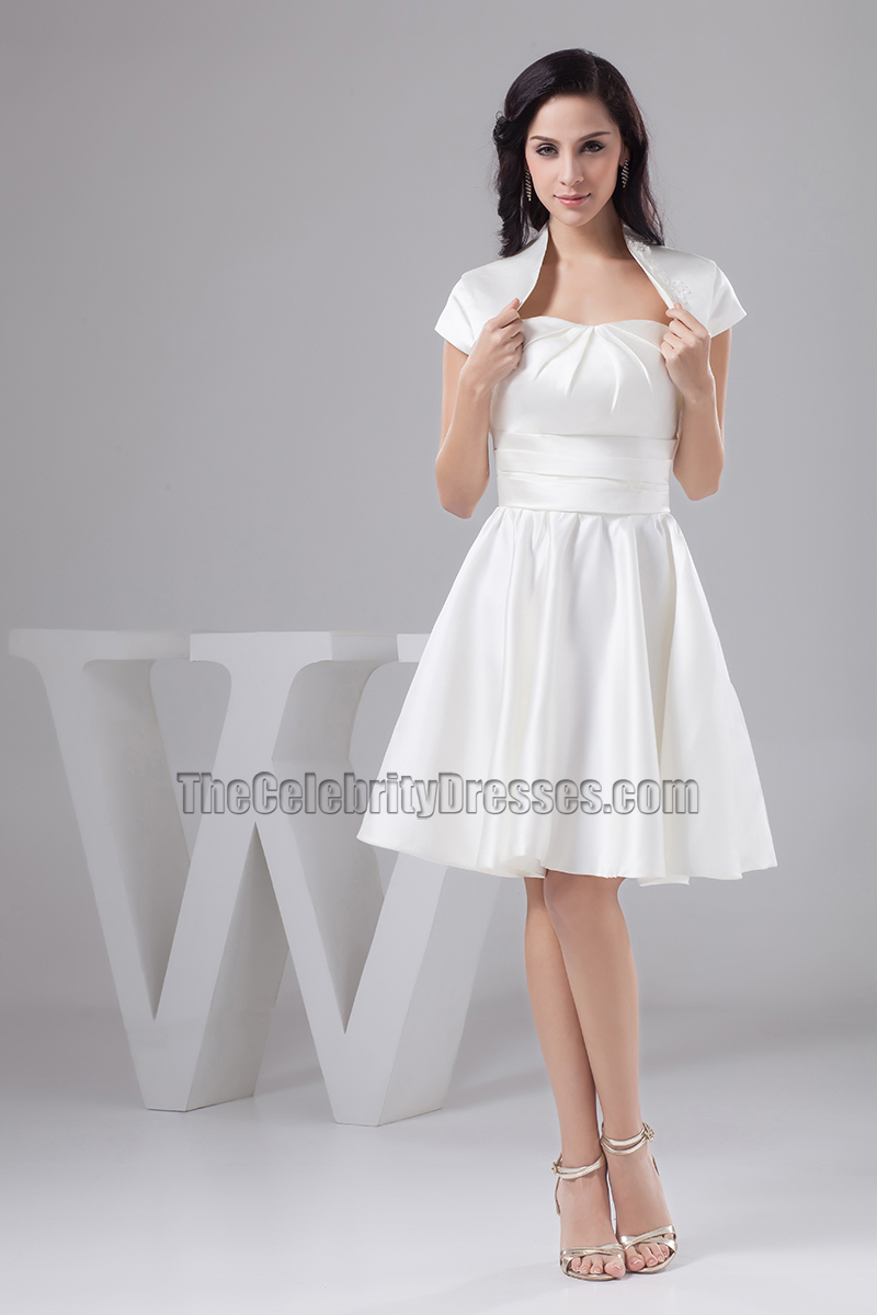 Gorgeous White Strapless Sweetheart A-Line Cocktail Party Dress ...