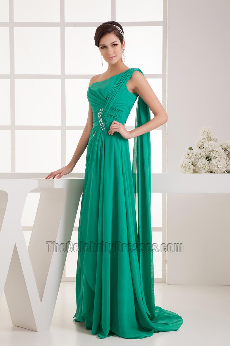 Hunter One Shoulder Chiffon Formal Gown Evening Prom Dress ...