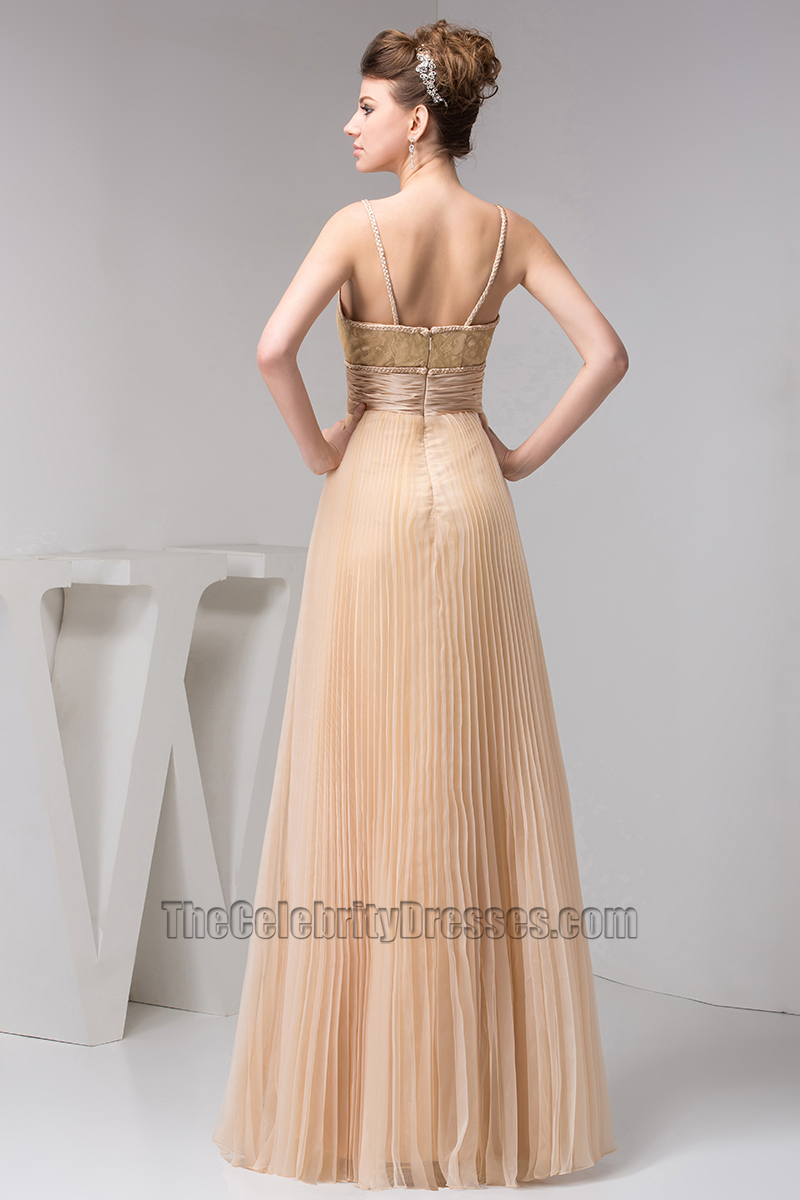 Long Spaghetti Straps Prom Gown Evening Bridesmaid Dresses Thecelebritydresses