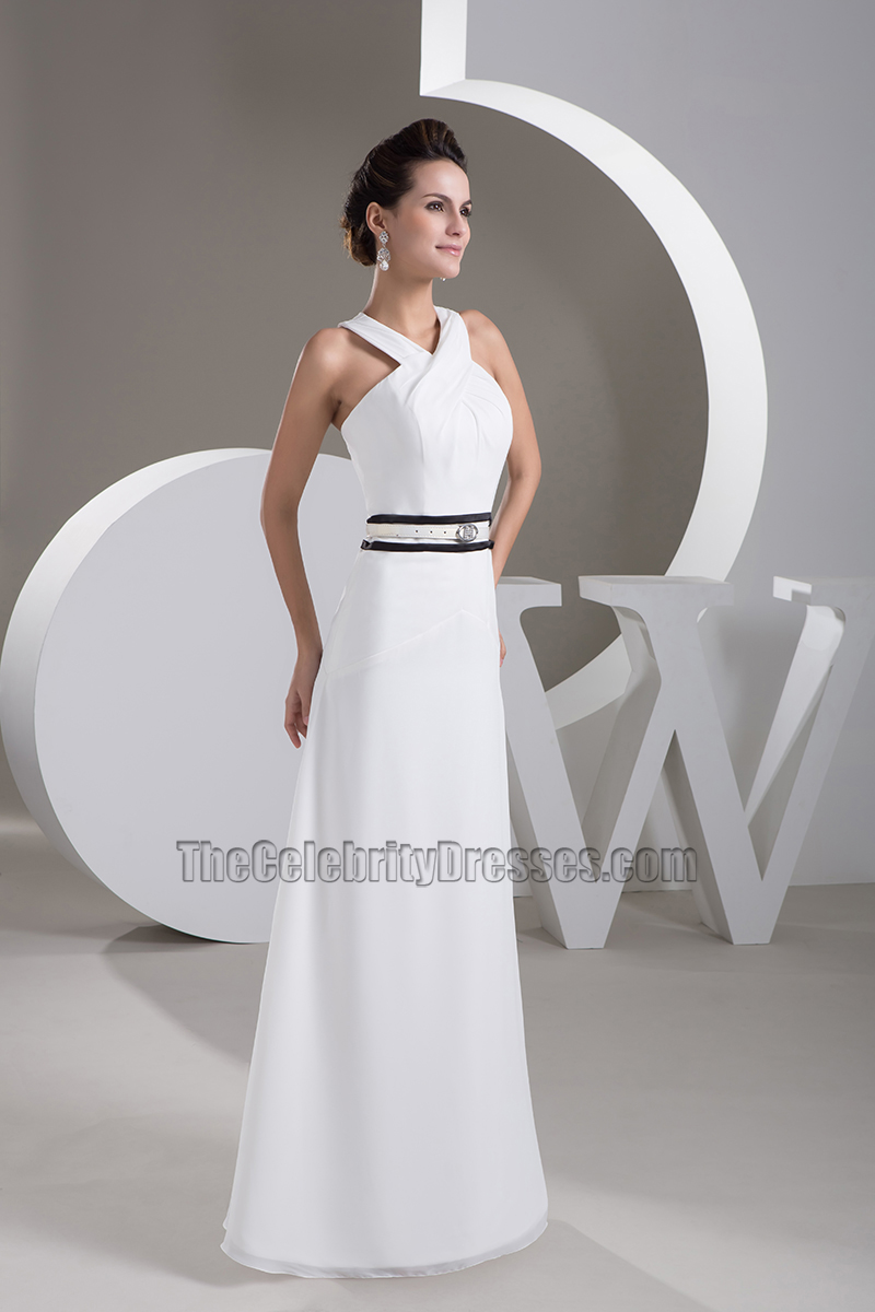 Long White Formal Dress Prom Evening Gown - TheCelebrityDresses