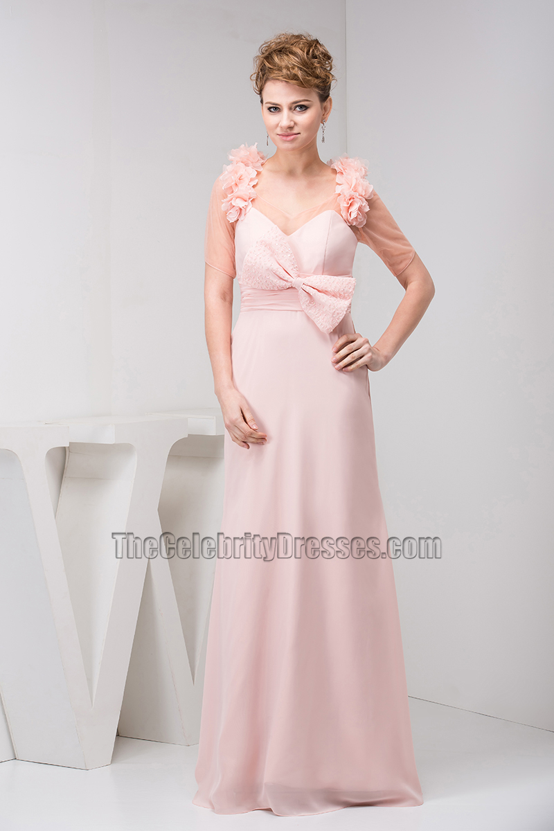 Pearl pink chiffon prom gown bridesmaid evening dresses pearl pink chiffon prom gown bridesmaid evening dresses thecelebritydresses ombrellifo Images