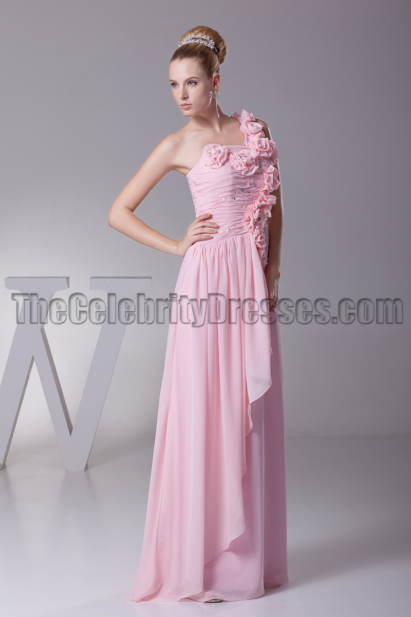 Pink one shoulder bridesmaid dresses prom evening gown pink one shoulder bridesmaid dresses prom evening gown thecelebritydresses ombrellifo Images