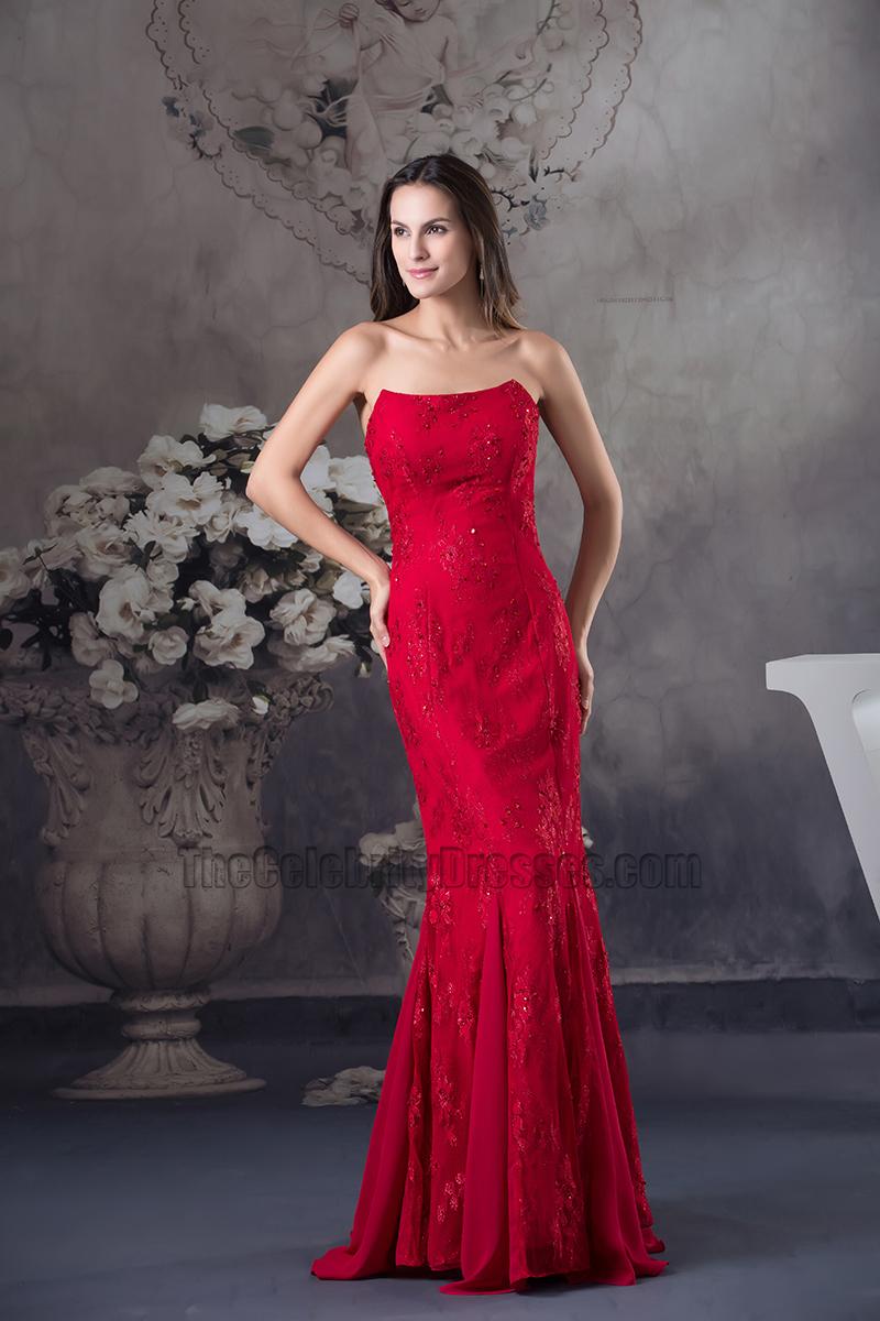 Red Mermaid Formal Dress