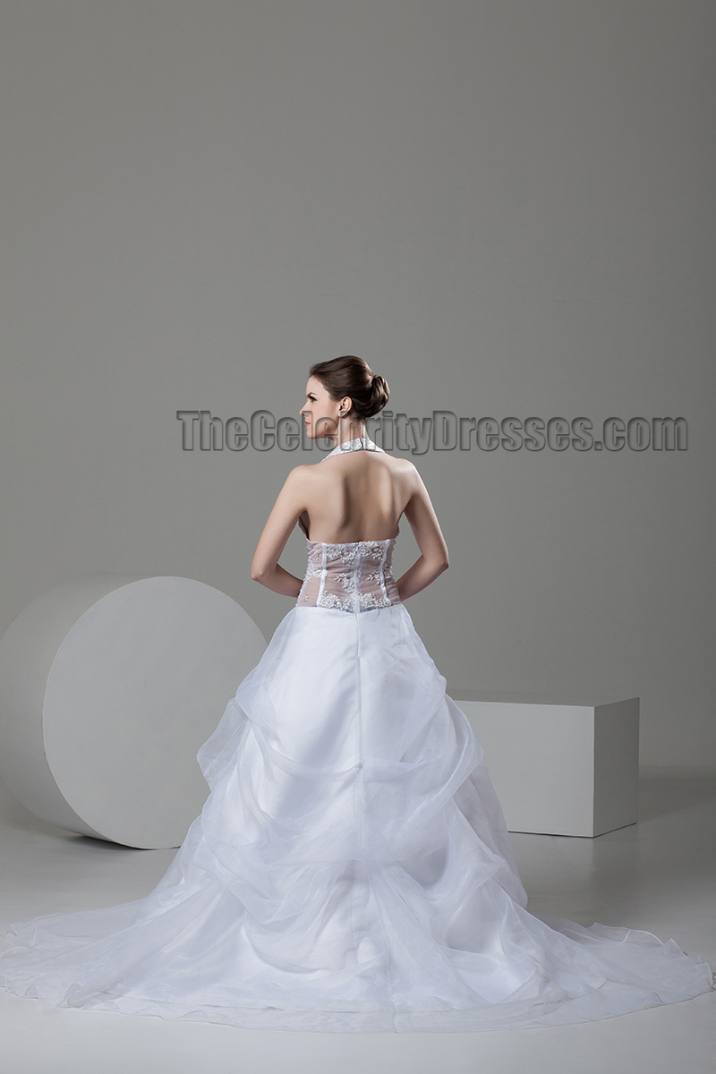 Sexy a line sweetheart halter see through wedding dress for Places to donate wedding dresses