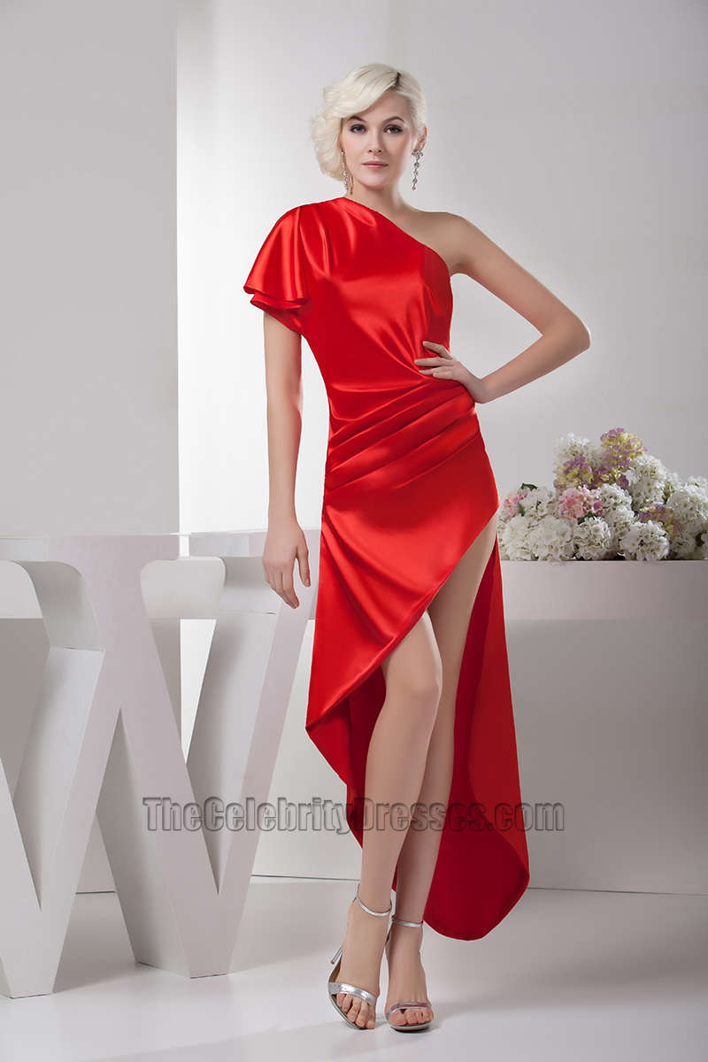 2320bc56f462a Sexy Asymmetric Red One Shoulder Prom Gown Evening Party Dresses -  TheCelebrityDresses