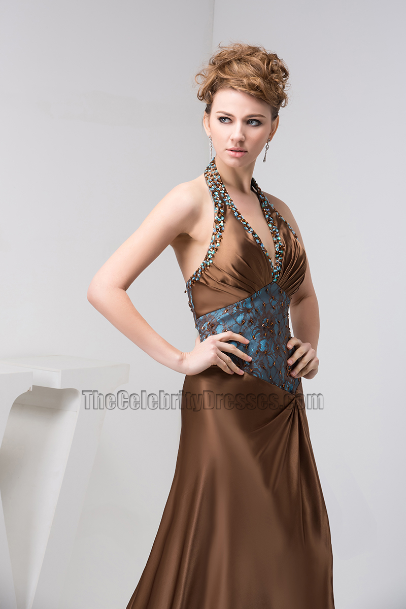 Sexy Halter A Line Formal Gown Evening Prom Dresses Thecelebritydresses