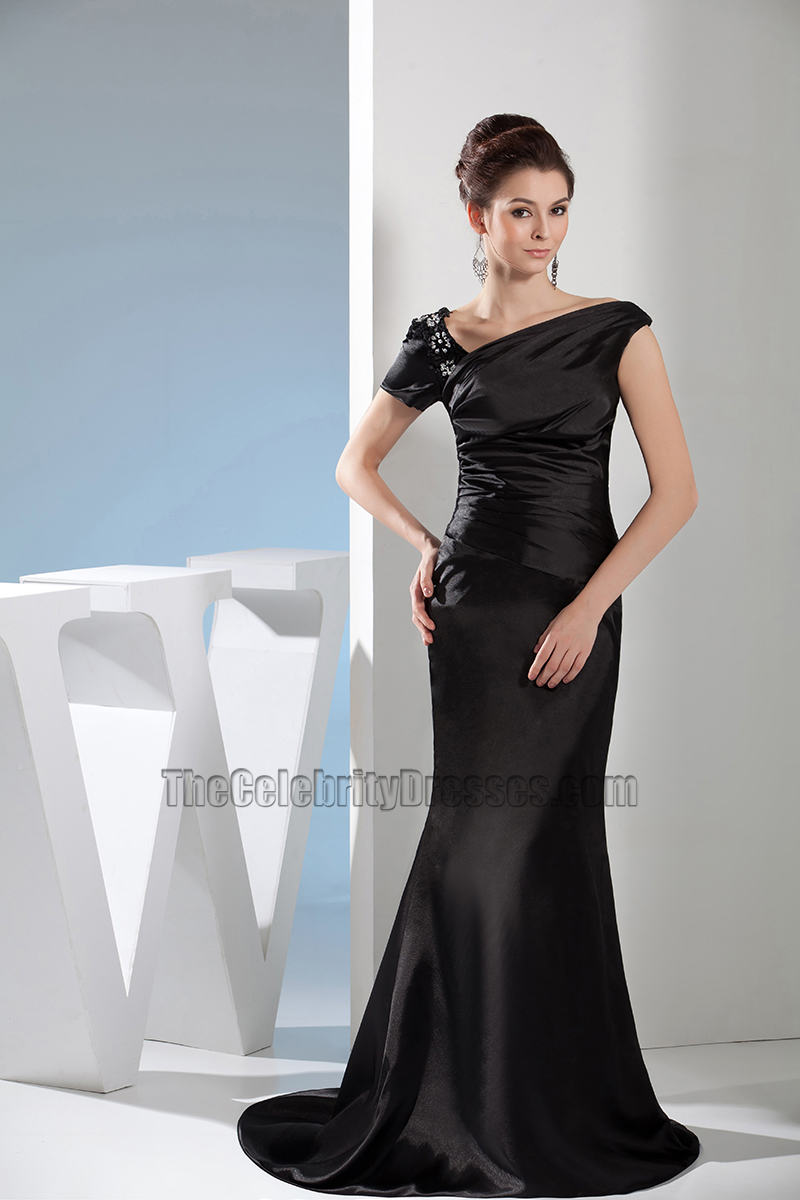 Sheath /Column Black Formal Dress Prom Evening Gown ...