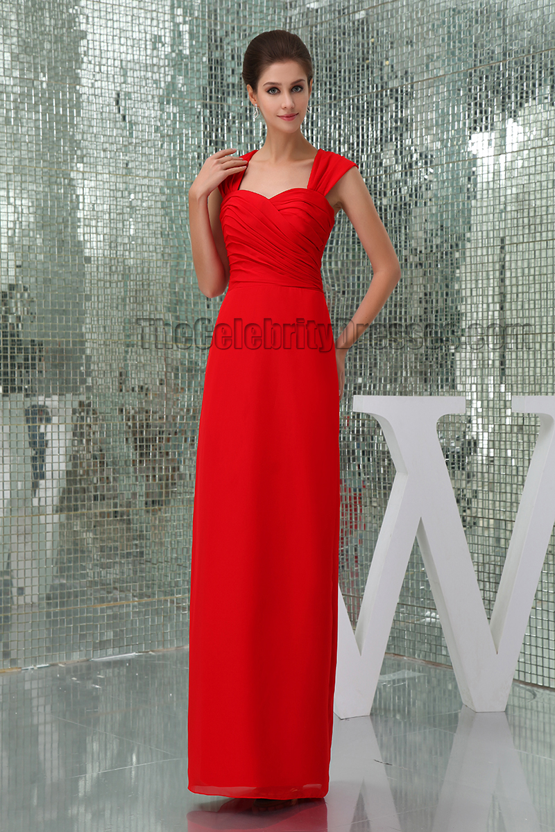 Sheath/Column Red Cut Out Prom Gown Evening Formal Dresses - TheCelebrityDresses