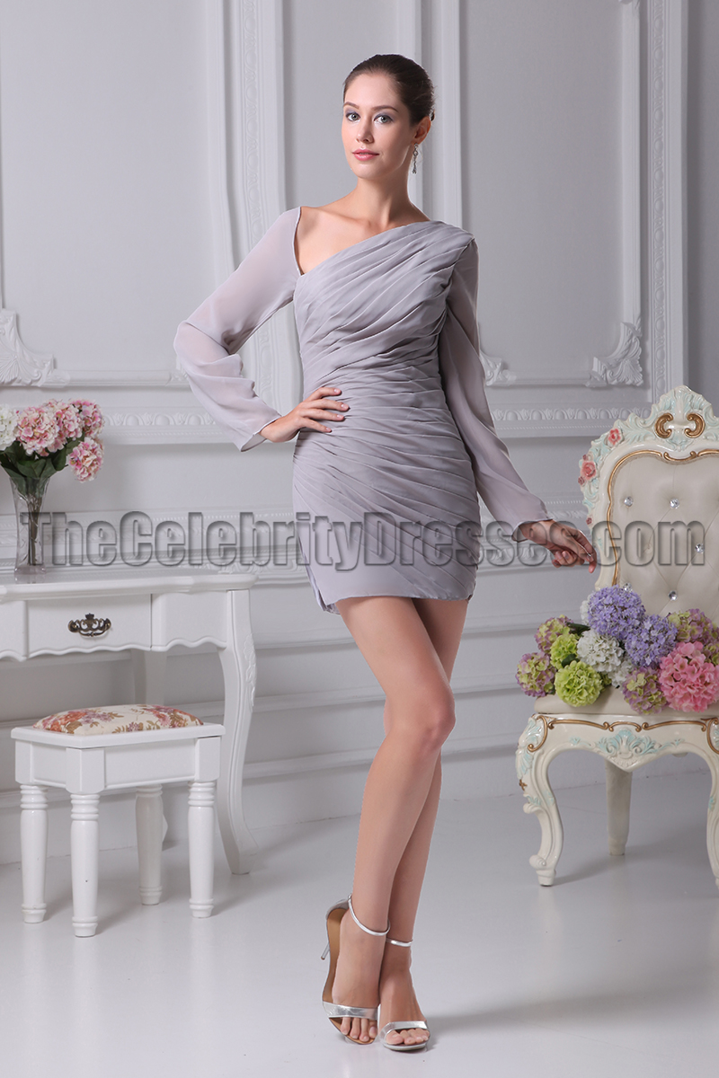 Sexy short mini silver long sleeve paty dresses thecelebritydresses ombrellifo Image collections