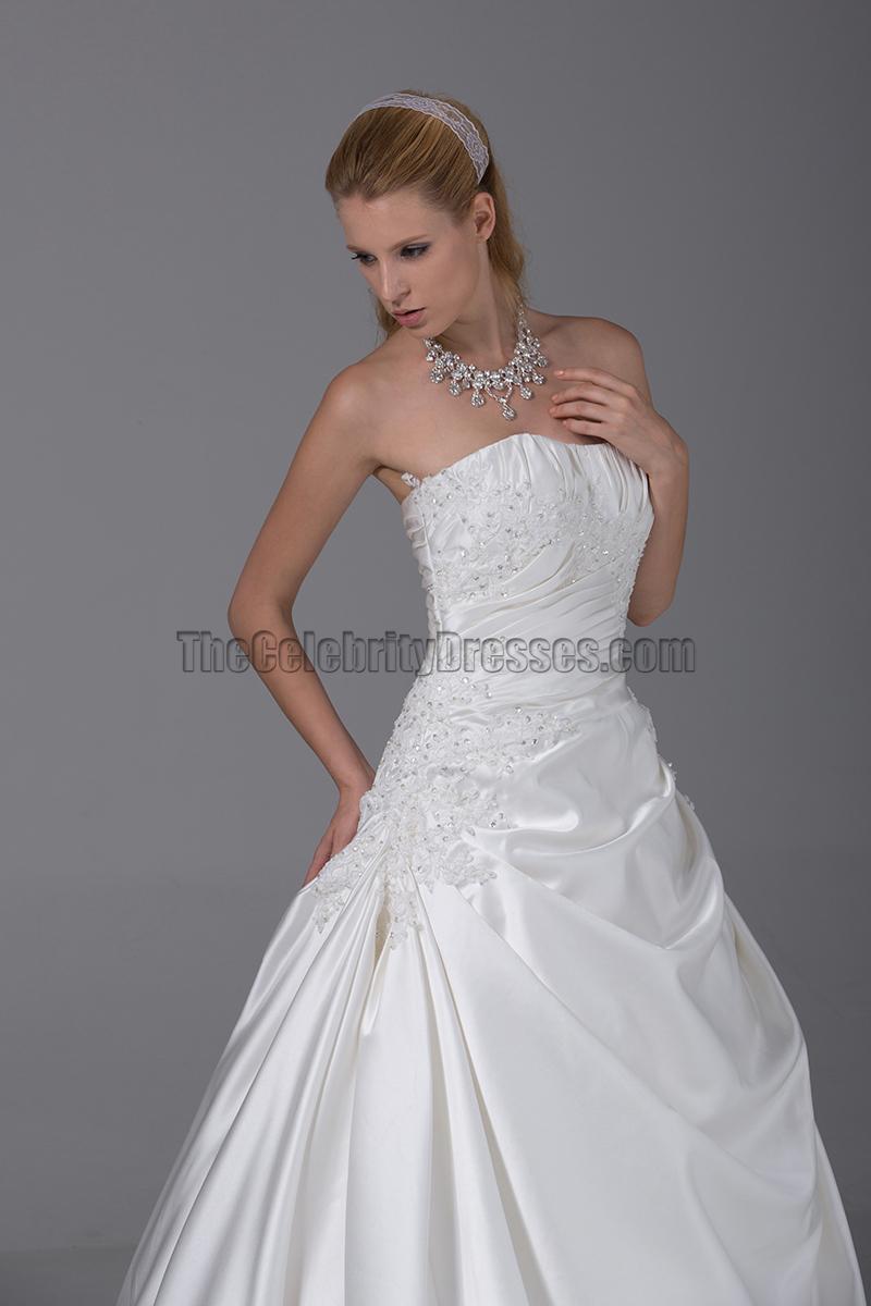 Simple strapless a line taffeta wedding dresses for A line taffeta wedding dress