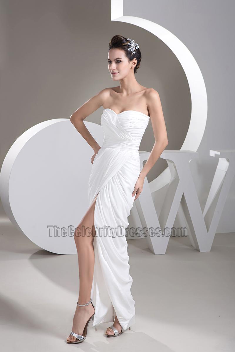 Simple Strapless Floor Length Wedding Dress Bridal Gown ...