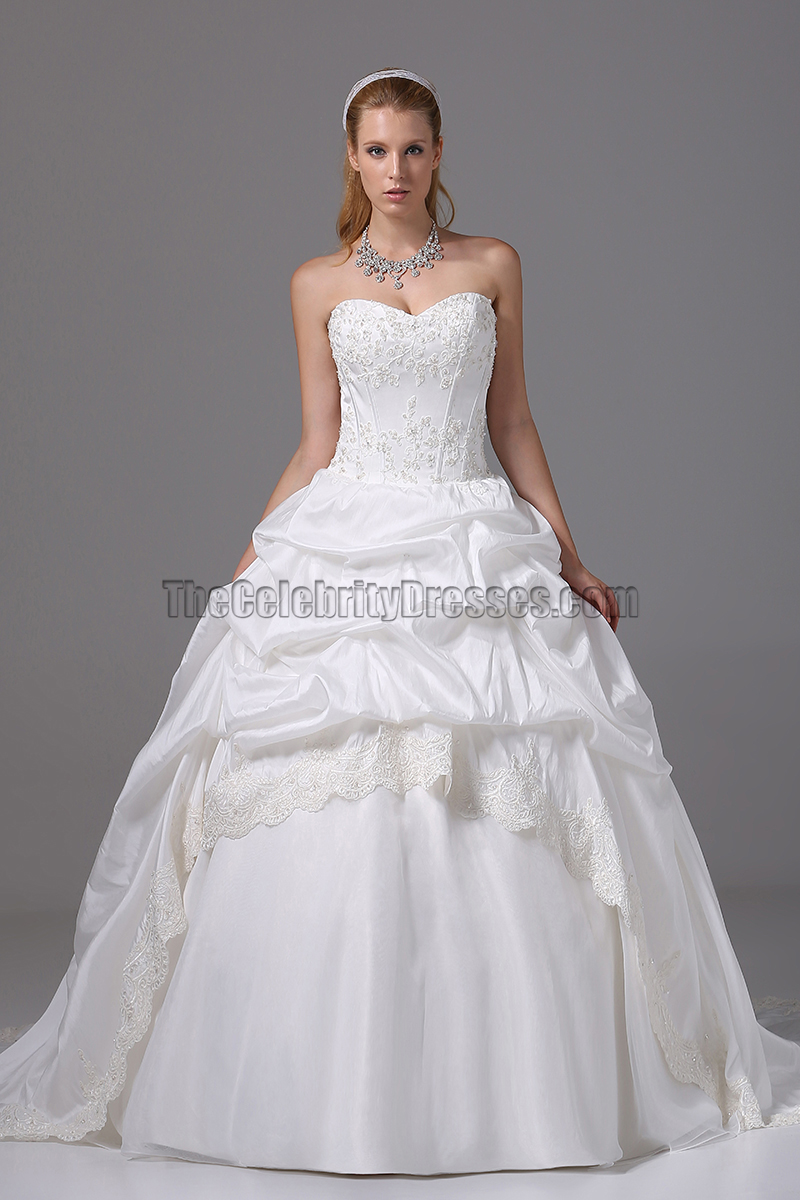 Strapless Sweetheart Embroidery Ball Gown Wedding Dresses ...
