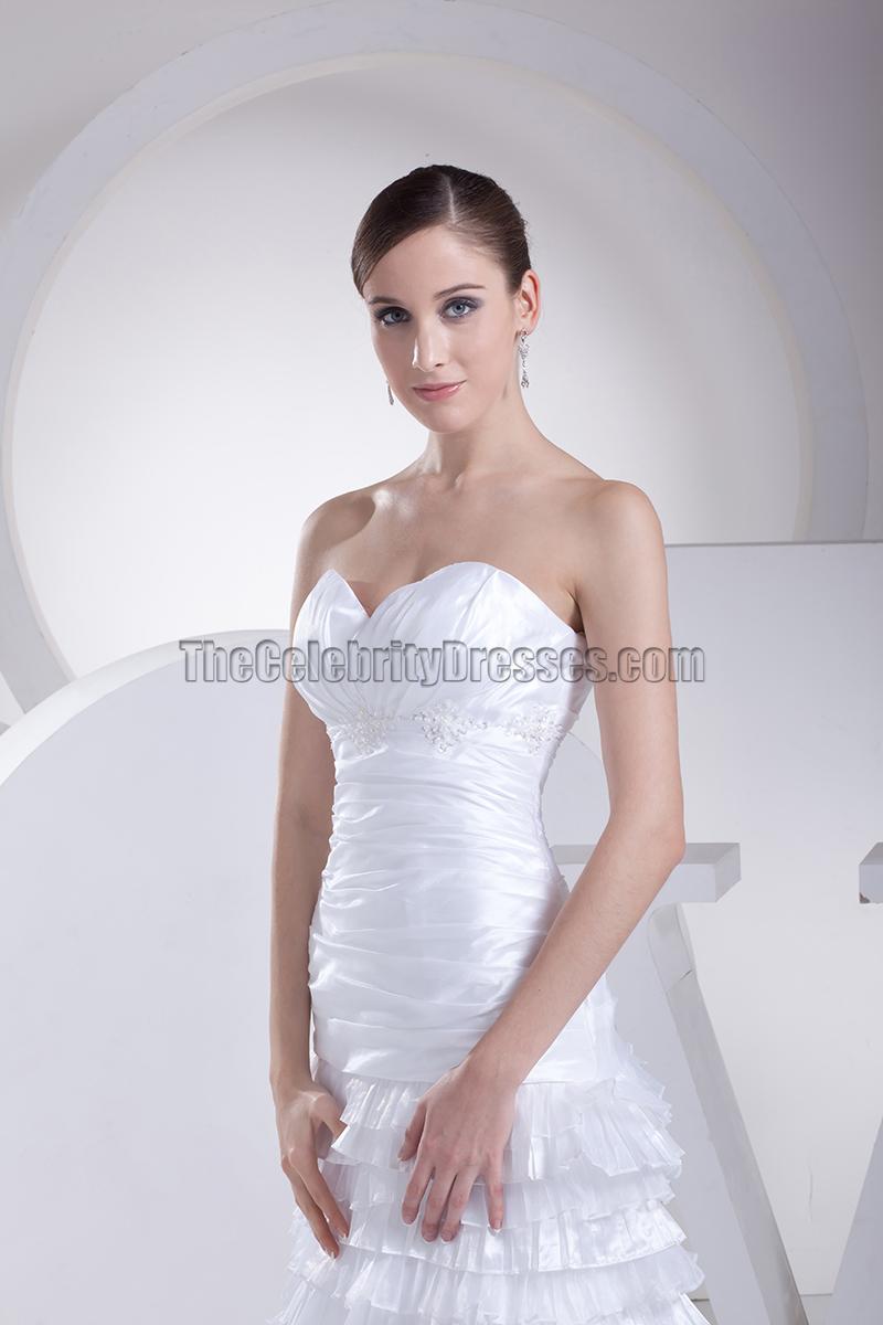 Sweetheart strapless a line taffeta bridal gown wedding for A line taffeta wedding dress