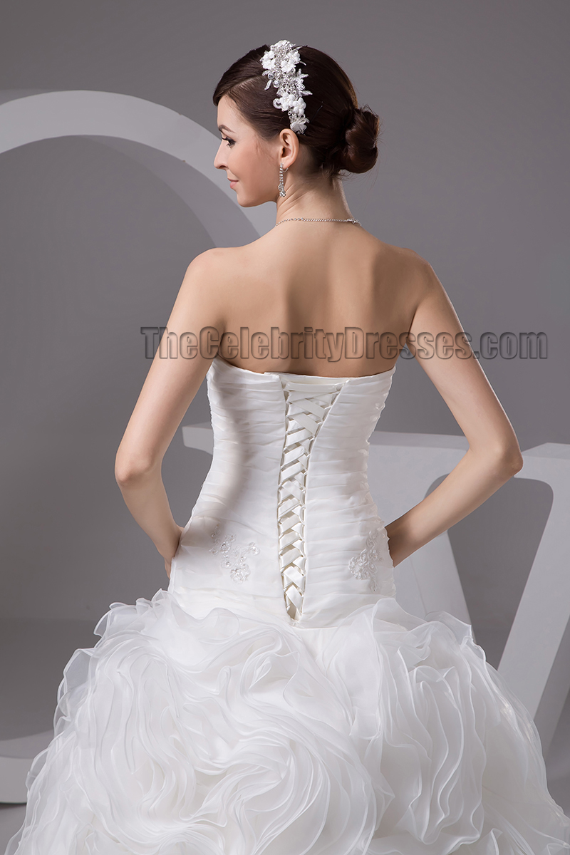 strapless mermaid wedding dresses trumpet mermaid strapless sweetheart organza wedding 7720