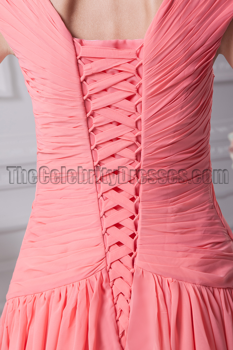Lace Up Formal Dress