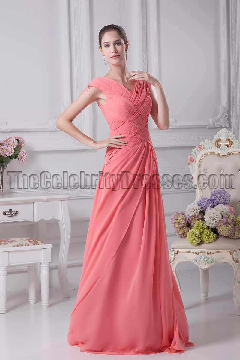 Watermelon prom formal dresses bridesmaid gowns thecelebritydresses ombrellifo Images