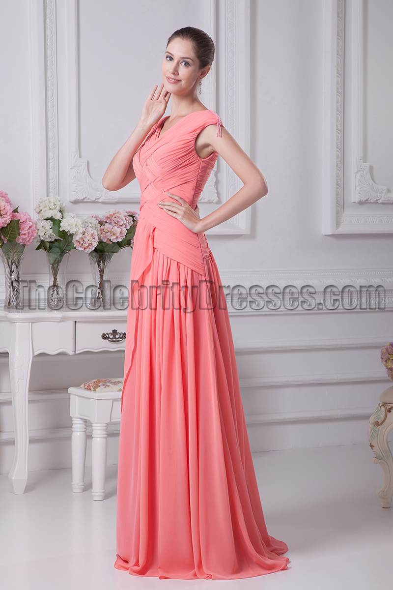 Watermelon prom formal dresses bridesmaid gowns thecelebritydresses ombrellifo Choice Image