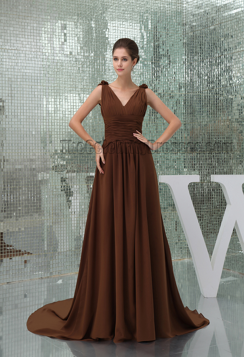 A line brown v neck chiffon bridesmaid prom dresses a line brown v neck chiffon bridesmaid prom dresses thecelebritydresses ombrellifo Gallery