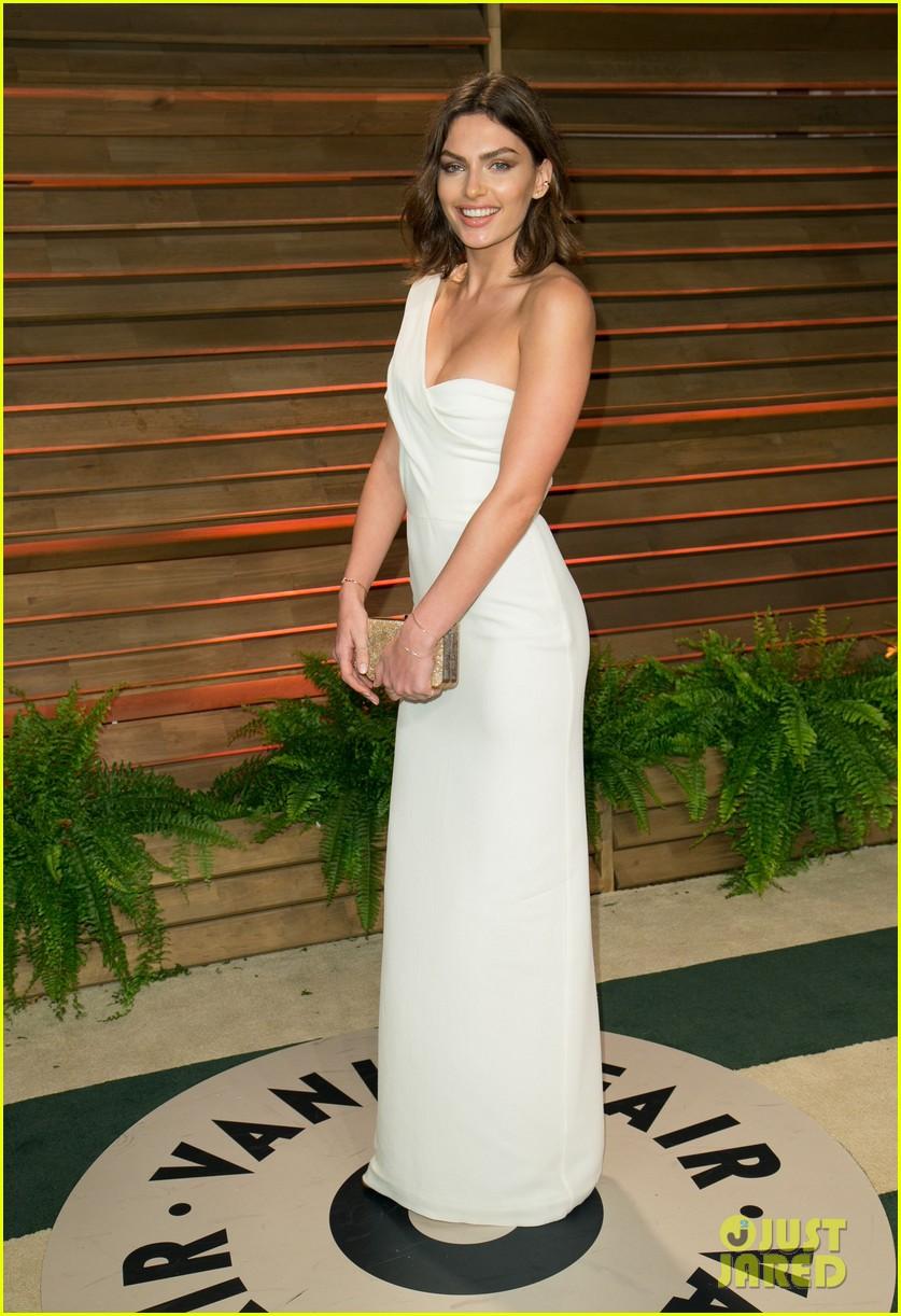 Alyssa Miller White One Shoulder Evening Gown 2014 Vanity Fair Oscar ...