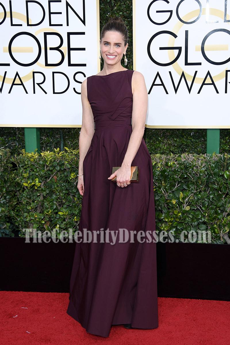 Amanda Peet Long Backless Evening Prom Gown 2017 Golden Globes ...