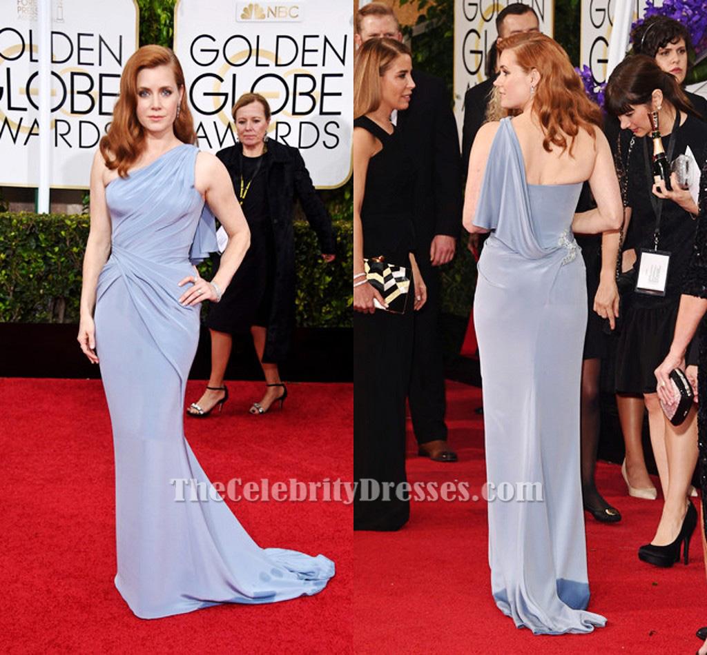 Amy Adams One Shoulder Formal Dress GOLDEN GLOBES 2015 RED CARPET ...