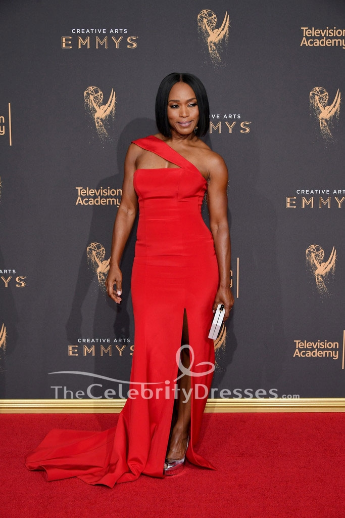 Angela Bassett 2017 Creative Arts Emmy Awards Red Evening Gown - TheCelebrityDresses