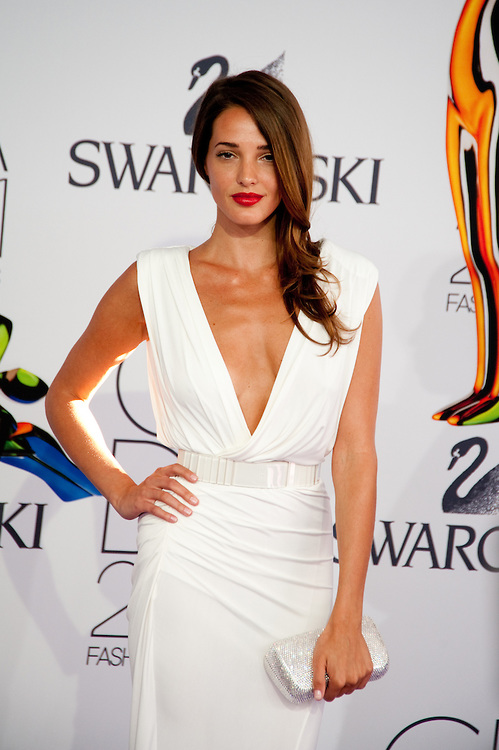 Angela Bellotte Sexy White Prom Gown Formal Dress 2011 CFDA Awards Red Carpet - TheCelebrityDresses