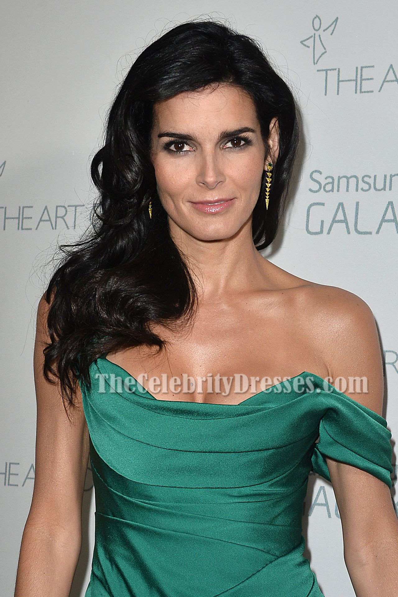 Angie Harmon At More Magazine September 2013: Angie Harmon Green Evening Dress Art Of Elysium HEAVEN