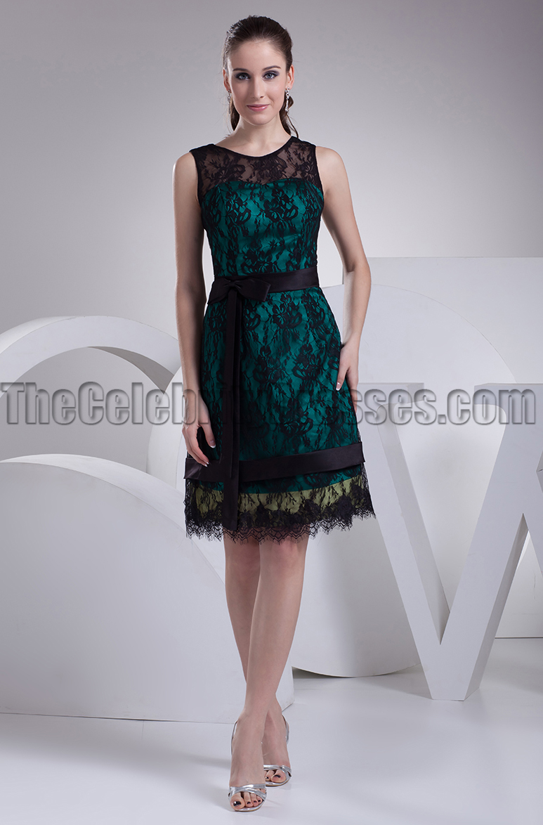 Knee length black lace cocktail party graduation dresses knee length black lace cocktail party graduation dresses thecelebritydresses ombrellifo Gallery