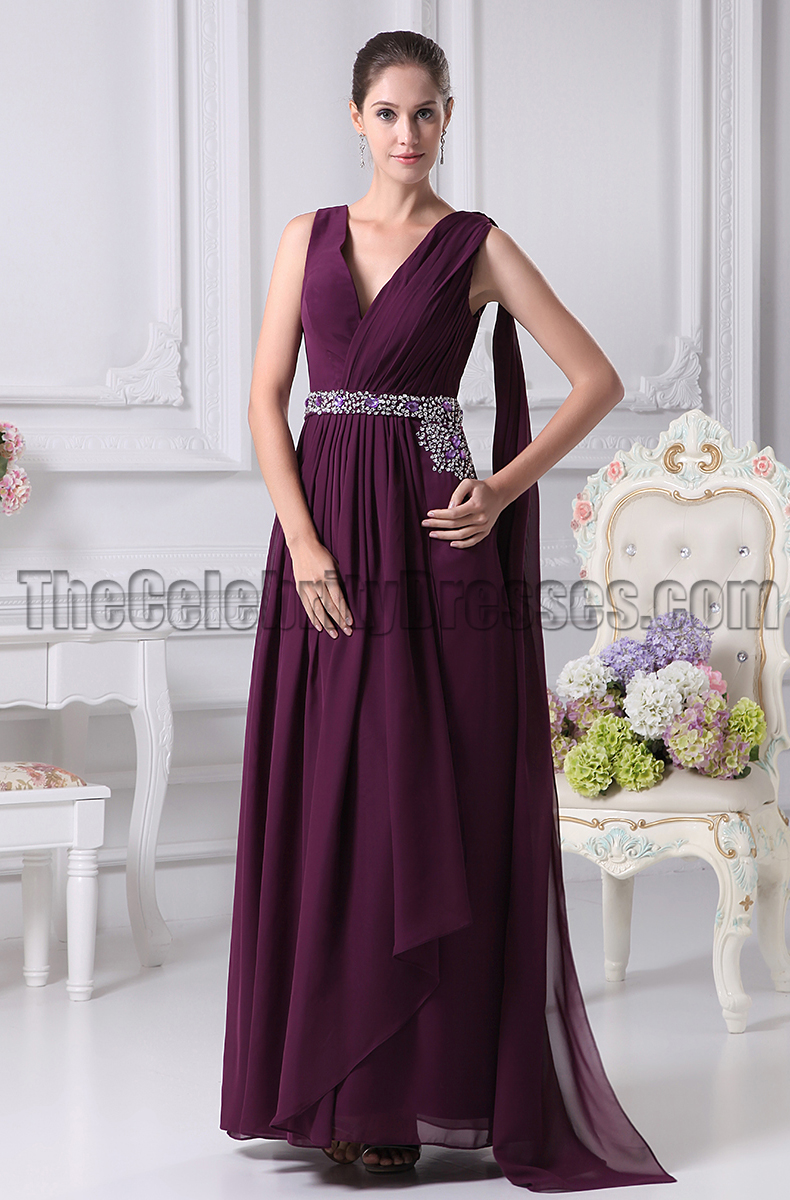 Grape v neck prom gown evening bridesmaid dresses grape v neck prom gown evening bridesmaid dresses thecelebritydresses ombrellifo Gallery