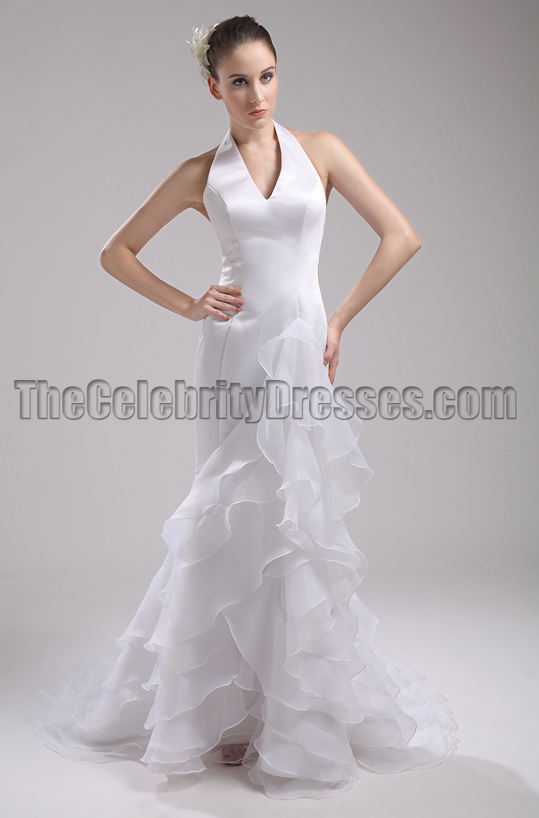 New Style Halter Wedding Dress Bridal Gown - TheCelebrityDresses