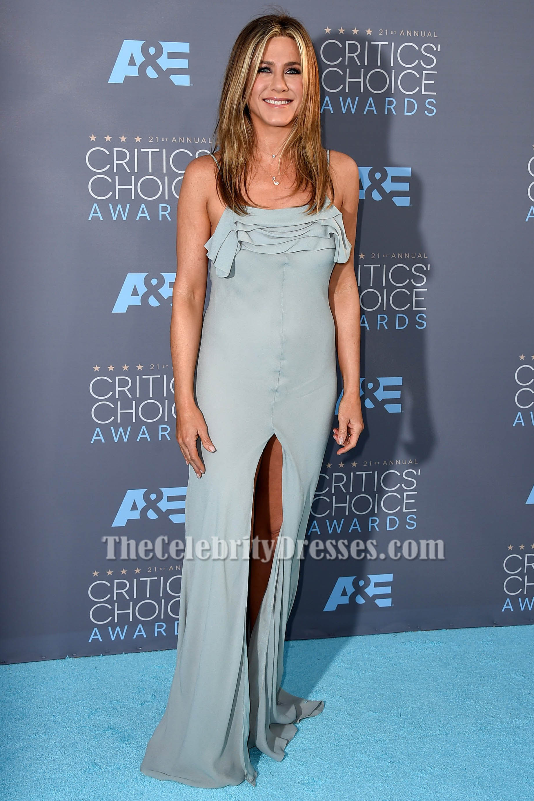 Jennifer Aniston Spaghetti Straps Evening Dress S21st
