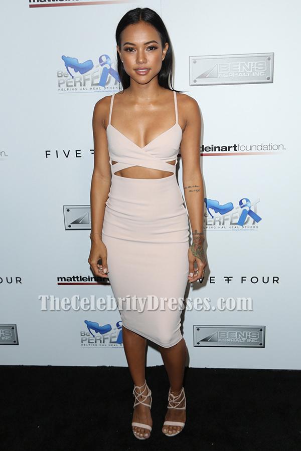 Karrueche Tran Cut Out Party Dress 9th Annual Celebrity ...