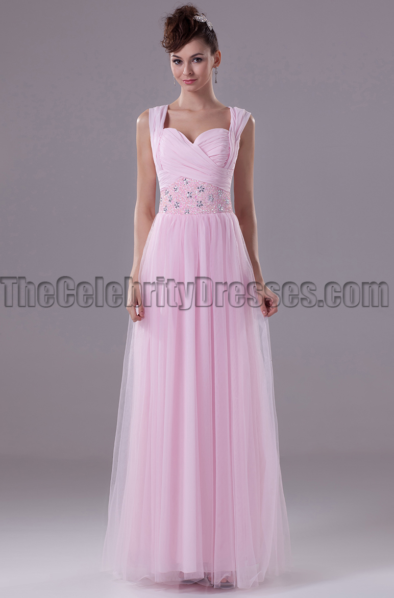 Pearl pink tulle prom gown evening bridesmaid dresses pearl pink tulle prom gown evening bridesmaid dresses thecelebritydresses ombrellifo Images